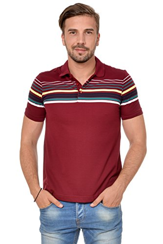 M.Conte Herren Poloshirt Polohemd T-Shirt Polo Weiss Blau S M L XL Rot Kurzarm Angell Rot