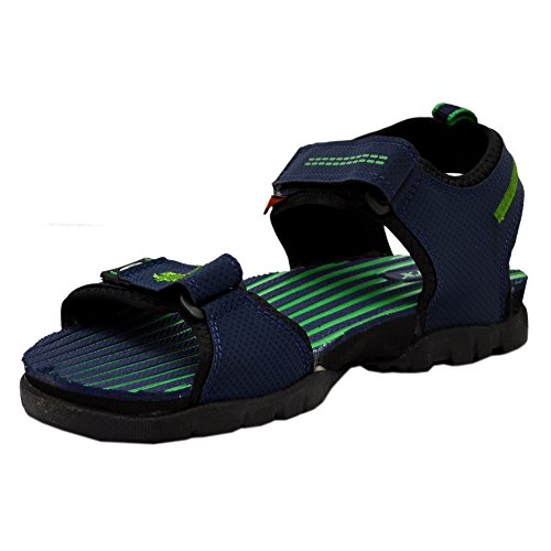 Sparx Men's Navy Blue and Green Sandals and Floaters(SS-209) - UK 8