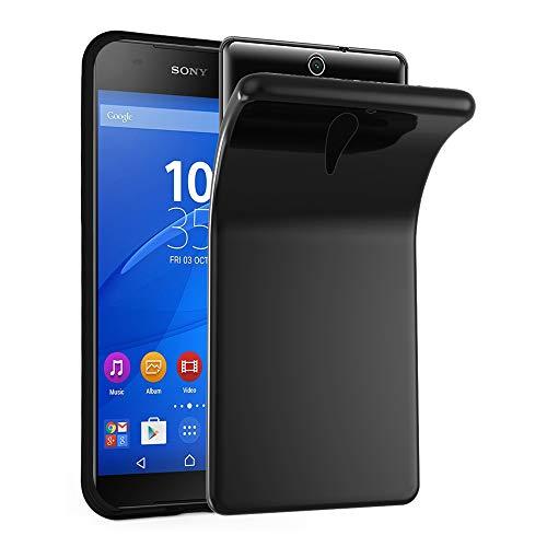 Cadorabo Hülle für Sony Xperia C5 Ultra in SCHWARZ - Handyhülle aus flexiblem TPU Silikon - Silikonhülle Schutzhülle Ultra Slim Soft Back Cover Case Bumper