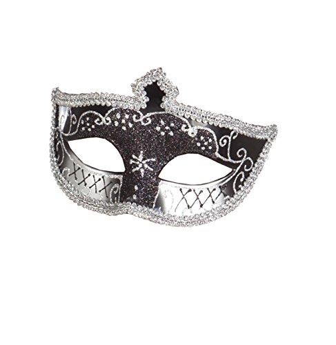 Boland 00280 - Augenmaske Venice Corona, schwarz / Silber (Corona Kostüm)