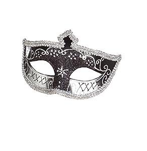 Boland Lobo veneciana negro y mujer de plata sexy - One Size