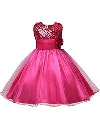 Gtagain Chica Princesa Vestido Formal - Dama de Honor Flor Boda Fiesta Bautizo Encaje Bonita Vestidos Niño Bebé…
