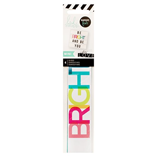 American Crafts Everyday 4Stück Heidi Swap Leuchtpult Mini Wort Streifen -