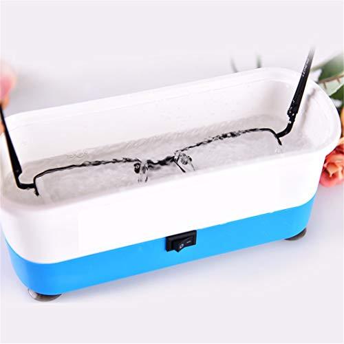 Mini Ultraschall-Reiniger Reinigungsgerät, Haushalt Vollautomatischer kleiner tragbarer Schmuck Reiniger, Professional Brillen Schmuck Uhren Reinigungswerkzeuge,Blue - Ultraschall Brillen-reiniger
