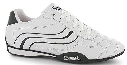 Lonsdale , Baskets mode pour homme Taille unique blanc/noir