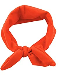 Sanwood Baby Girl Headband Toddler Headdress Child Hairband Elastic (Orange)