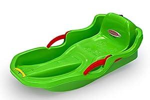 Jamara 460540 Snow Play Bob Comfort - Silla de Paseo ergonómica con Palanca de Freno (80 cm), Color Verde
