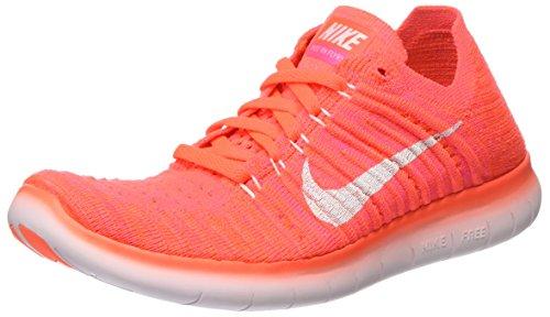 Nike Damen Free Rn Flyknit Laufschuhe, Orange (Hyper Orange/Total Crimson/Pink Blast/Weiß), 38 EU