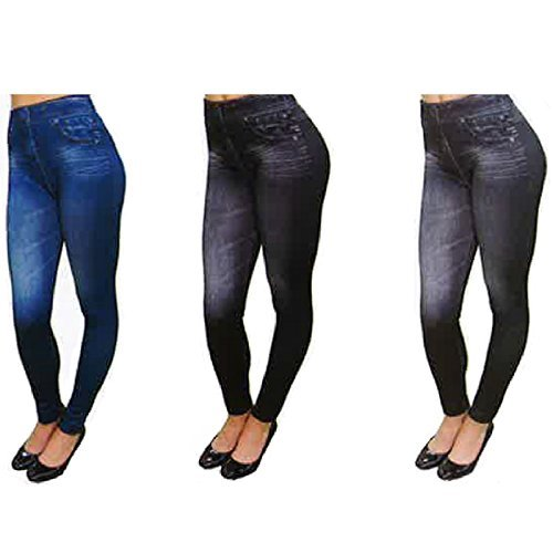 Price comparison product image Set Of 3 Thane Slim N Lift Caresse Jeans Skinny Jeggings Shapewear Slimming Body Shaper Trousers (L/XL)
