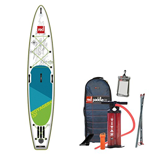 Red Paddle 2018 Co Voyager 13'2 Inflatable Stand Up Paddle Board + Bag, Pump, Paddle & Leash