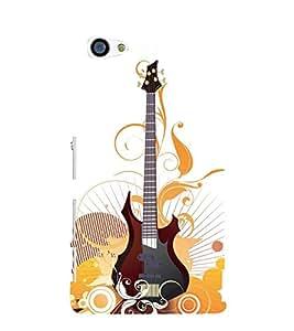 Animated Guitar 3D Hard Polycarbonate Designer Back Case Cover for Sony Xperia Z5 Premium :: Sony Xperia Z5 Premium Dual