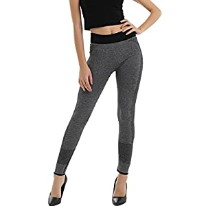 DODOING Damen Mädchen High Waist Laufhose Sporthose Yoga Legging Pants Fitnesshose Training Schlank Workout Hose