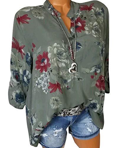 Shallgood camicetta maniche lungo da donna autunno invernali camicie in pizzo camicia girocollo eleganti top blusa,s-2xl b verde it 40