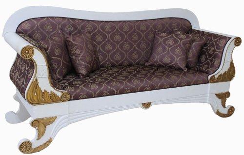 Biedermeier Sofa Salur Sitzbank Bank Couch Stilmöbel Polstermöbel NEU
