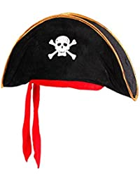 Alsino Piratenhut Kinder Seeräuber Totenkopf Hut Piratenparty Kostüm
