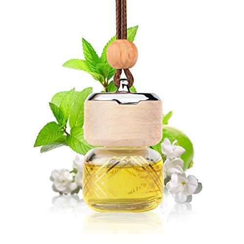 L J Auto Lufterfrischer, Autoduft, original französisches Parfumöl hergestellt bei Mane®, Auto Zubehör, Auto Duft, Leichter Duft fürs Auto, Hängefläschchen im Fahrzeug, Raumduft, 9ml (G-1211) -