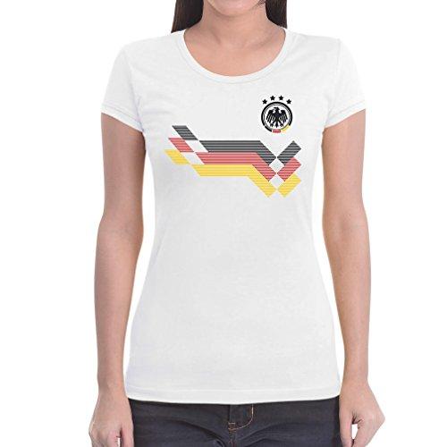 Maglia donna - coppa del mondo fan germania maglietta da donna slim fit medium bianco