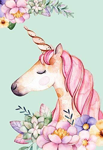 ZCHPDD - Cuadro de Pared de Estilo nórdico, diseño de Flores Rosas con flamencos y Unicornios, Resistente al Agua, b, 50 * 70cm
