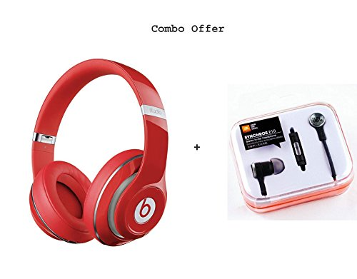 Beats SH-13 Bluetooth Wireless Headphone (Red) Free JBL Synchroes E10 Earphone.  available at amazon for Rs.3199