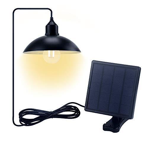 Jolicobo Solarlampen Solar Hängeleuchte 2 Modi IP65 Wasserdicht Solar Pendelleuchte Hängelampemit Solarpanel und Zugschalter für Außen
