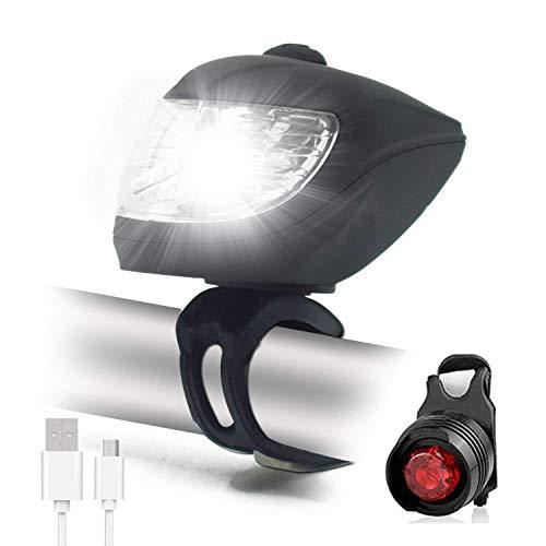 MUTANG IP65 imprägniern Fahrrad-Licht, USB-aufladbares Fahrrad-Licht-Satz, FREIES LED-Rücklicht ENTHALTEN den super hellen 500 Lumen-Fahrrad-Scheinwerfer - einfache Installation - Led Fahrrad-licht 9