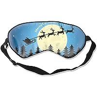 Augenmaske, mit verstellbarem Riemen, Weihnachtsmotiv, Maulbeerseide preisvergleich bei billige-tabletten.eu