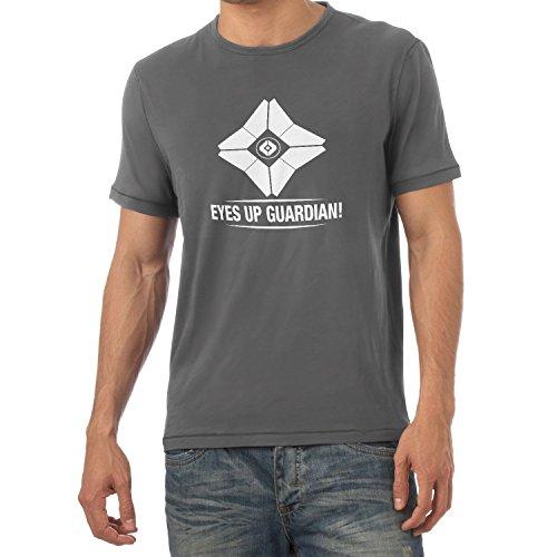 NERDO - Eyes up Guardian! - Herren T-Shirt, Größe M, grau (Ps3-mmo)