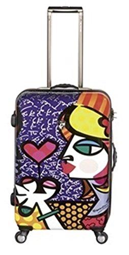 Koffer, Reisegepäck, Trolley by Heys - Premium Designer Hartschalen Koffer - Künstler Britto Couple Koffer mit 4 Rollen Medium