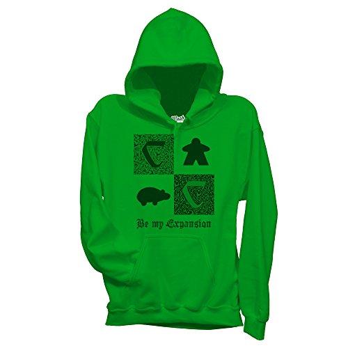 MUSH Felpa Be My Expansion - Carcassonne Giochi da Tavolo - Games by Dress Your Style Verde prato