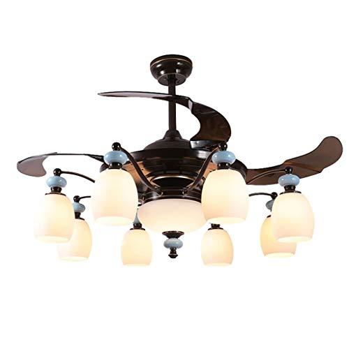 Kronleuchter Fernbedienung Lüfter Kronleuchter Schlafzimmer Deckenventilator Licht Home Einstellbare Geschwindigkeit Lüfter Kronleuchter Stille Variable Frequenz Deckenventilator - Variable Geschwindigkeit Lüfter