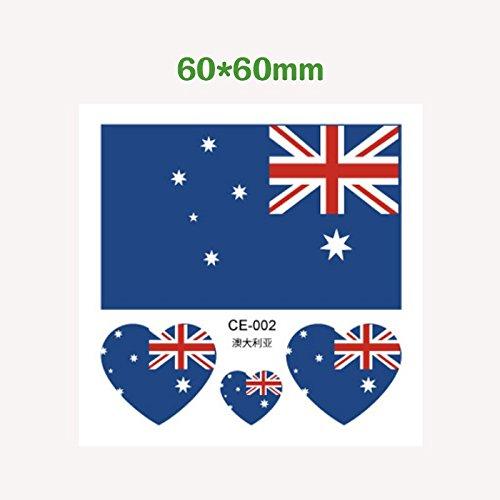 ische Wm Flaggen Aufkleber tattoos Wasser übertragen Fußball Baby Gesicht - Lüfter Netzteile, Australien (Halloween Amerika Australien)
