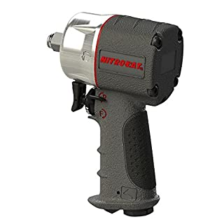 AIRCAT 1076-XL Kevlar Composite Compact Impact Wrench, Grey, 3/8-Inch