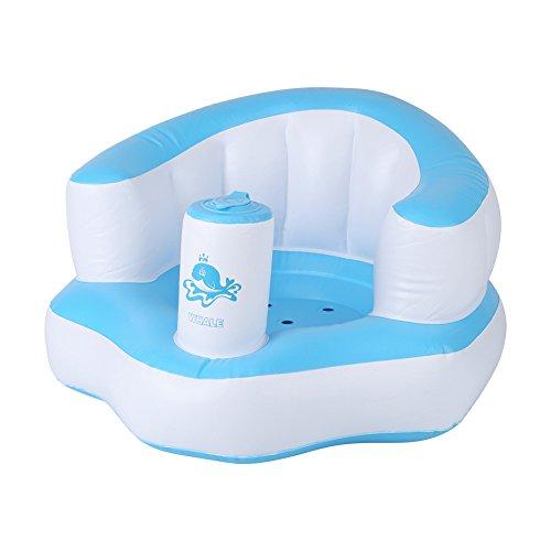 Divano gonfiabile della sedia dei bambini svegli costruito nel sedile di bagno della pompa gioco portatile del gioco del bambino regalo meraviglioso per i bambini(blue)
