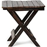 Craftatoz Mango Wood Coffee and Centre Table, 15x15x15 Inches (Black)