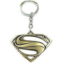 Superman Logo DC cómics de superhéroes Carácter llavero de metal de colección   anillo de claves