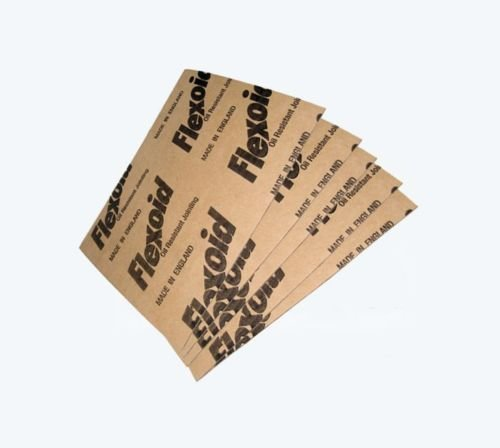 Flexoid Gasket Paper, 1.6mm Thick - 5 x A4 Sheets - Oil & Water Resistant Test