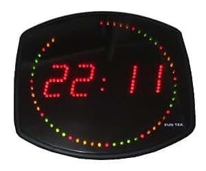 INTROUVABLE ! Horloge à LED murale Multicolore Pendule digitale Clock Fun Tea