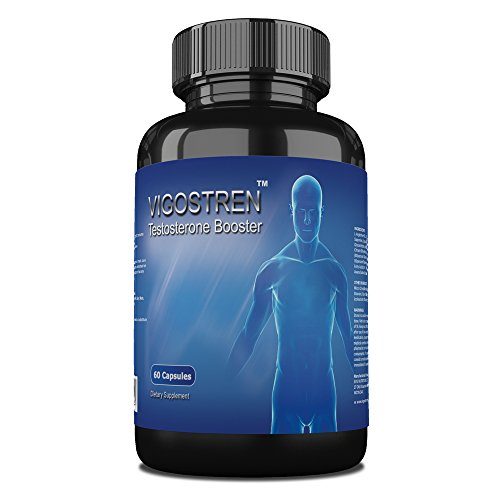 Vigostren Testosterone Booster – Proven To Boost Energy, Stamina and Drive – Effective Unique Formula 60 Capsules – No Fillers or Proprietary Blend