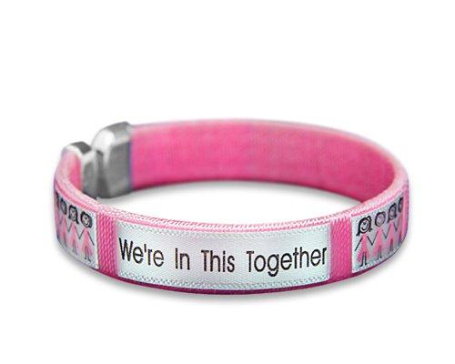 Brustkrebs Bewusstsein pink ribbon Armbänder 02 Bracelets Together Bangle Bracelet - Adult