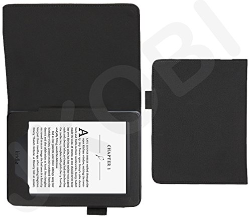 Jkobi Synthetic Leather Tablet Book Front & Back Protection Flip Case Cover For Amazon Kindle -Polish Black  available at amazon for Rs.195