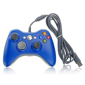 Althemax® Wired Xbox 360 USB-Spiel-Auflage-Steuerknüppel-Steuerpult für Xbox 360 oder PC Blau