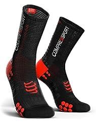 Compressport - COMPRESSPORT - Chaussettes - RACING SOCKS V3.0 BIKE Noir/Rouge - tailles : T3