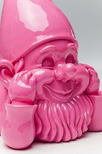 Witziger Gartenzwerg Gnom Chill out KARE pink - 3
