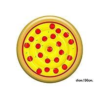 Gonfiabile mare piscina Materassino Isola a forma di pizza con salmare da 125x125x h 24