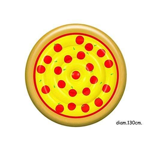 Publilancio srl gonfiabile mare piscina materassino isola a forma di pizza con salmare da 125x125x24 cm