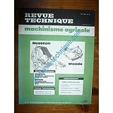RTMA0012 REVUE TECHNIQUE TRACTEUR AGRICOLE PRESSE ROTATIVE HESTSTON 5700 5800 FAUCHEUSE WOODS M5
