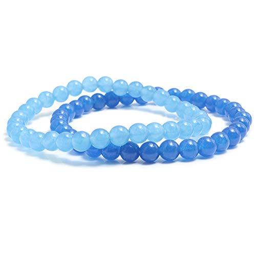 DMUEZW Traubengrün und Malaysische Jade Natürliche Edelstein Achate Onyx Armband Für Frauen Männer Armreifen Energie Perlen Gebet Armband - Malaysische Natürliche