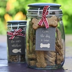 Cat & Dog Treats Jars 1 & 1.5 litre - free gift wrapping