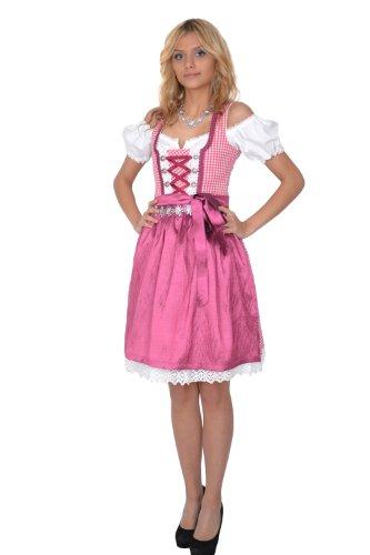 Dirndl Set Trachtenkleid 3tl. Mit pink schürze, Größe 42