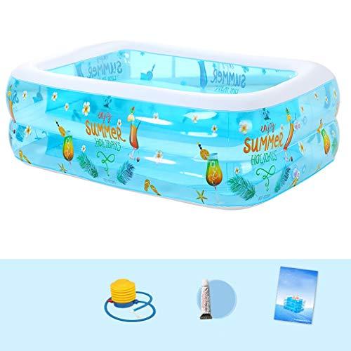 TXOZ Haushalt Zweiten Ring Dicken Aufblasbaren Pool, Kinderbecken Marine Ball Erwachsenen Planschbecken 115 cm × 85 cm × 36 cm Badewanne (Aufblasbaren Pool 36)